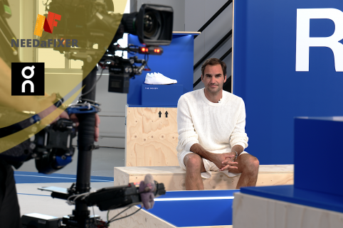 On Running Live show mit Roger Federer (Service Productions)